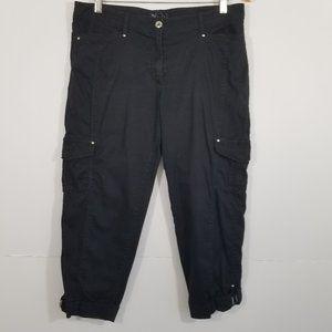 White House Black Market Cargo Crop Leg Pants 10